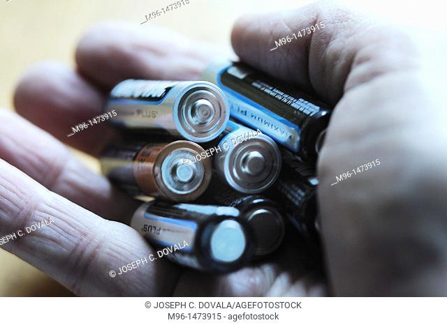 Handful of batteries