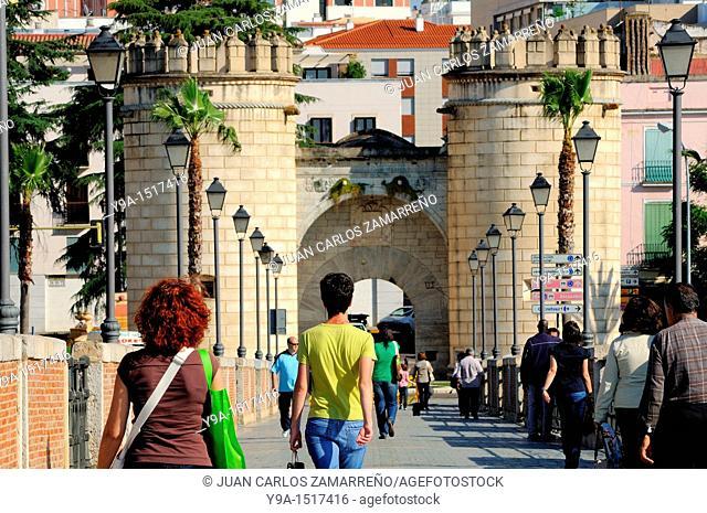 Puerta de Palmas, Palm Door, symbol of Badajoz, Extremadura, Spain