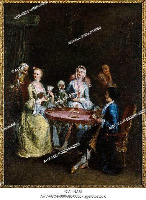 Painting by Pietro Longhi entitled 'The card game', in the Museo Correr in Venice (XVIII century), shot 1992 by Magliani, Mauro for Alinari