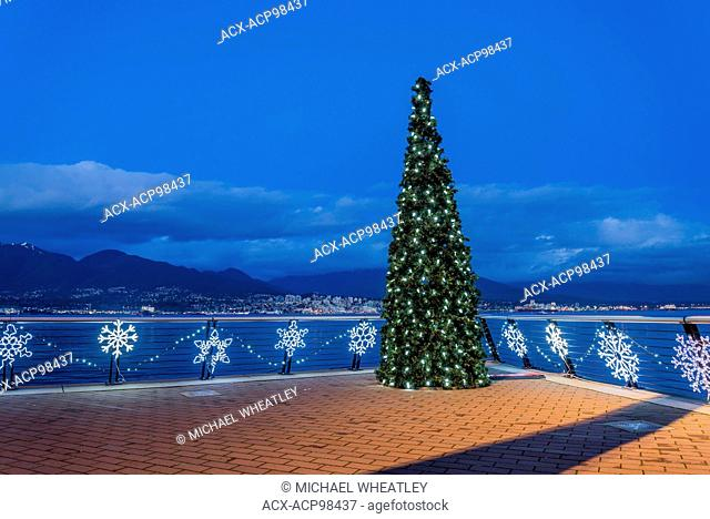 Christmas tree, Vancouver Convention Centre, , Vancouver, British Columbia, Canada