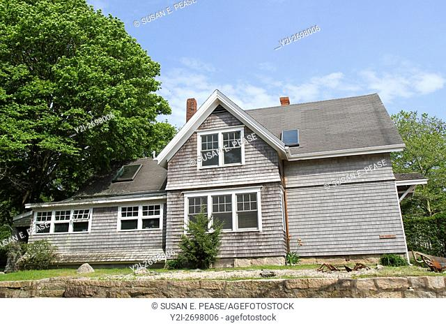 A home in the village of Woods Hole, Falmouth, Massachusetts, United States, North America. Editorial use only