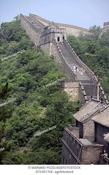 Great wall. Mutianyu, Huairou county. China