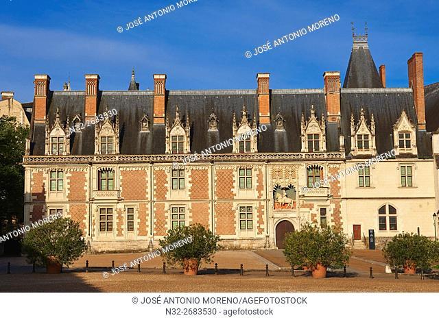 Blois, Castle, Chateau de Blois, Loire et Cher, Pays de la Loire, Loire Valley , UNESCO World Heritage Site, France