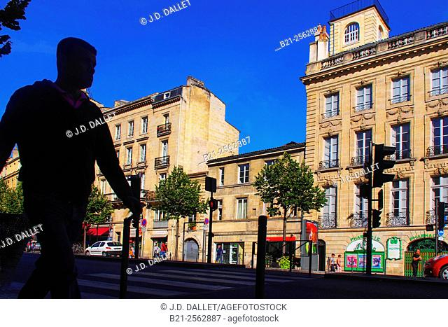 Cours Victor Hugo, at Bordeaux, Gironde, Aquitaine, France