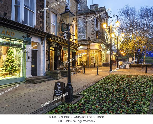 The Montpellier Quarter at dusk Harrogate North Yorkshire England