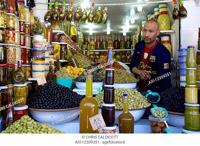 Olive stall in the souk/market