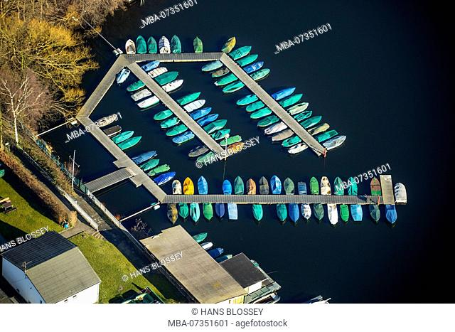 Jetty, Sechs-Seen-Platte Wedau, Duisburg, Ruhr area, North Rhine-Westphalia, Germany