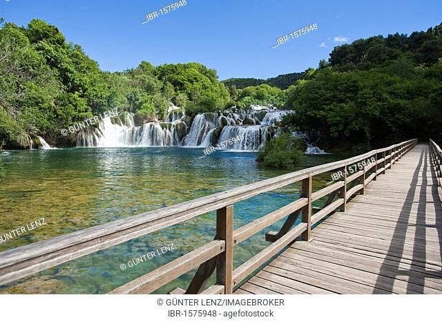 Waterfalls, Krka National Park, Sibenik-Knin County, Croatia, Europe