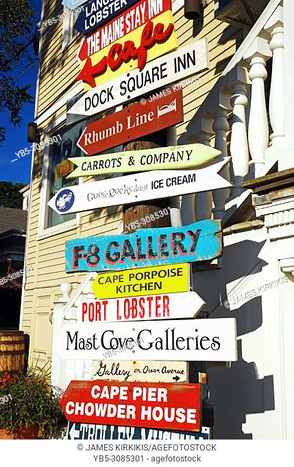 Signs point to multiple businesses in Kennebunkport, Maine