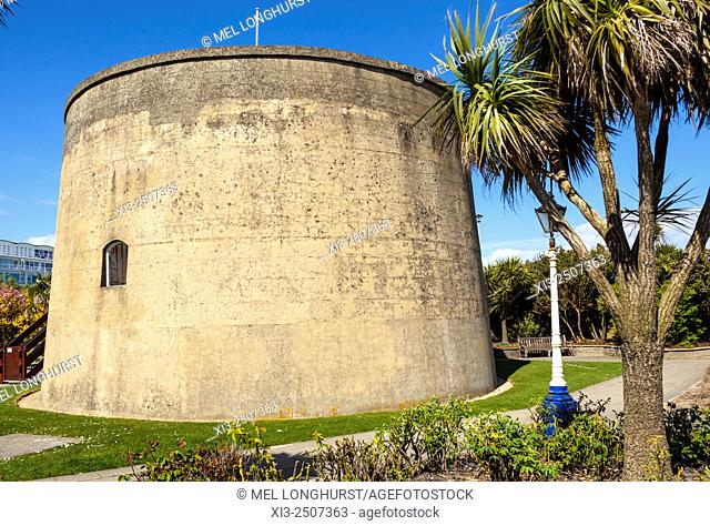 Wish Tower, a Martello tower, King Edward's Parade, Eastbourne, East Sussex, England