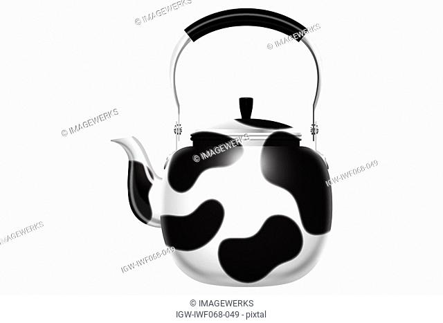 A Kettle of cow-print pattern, illustration
