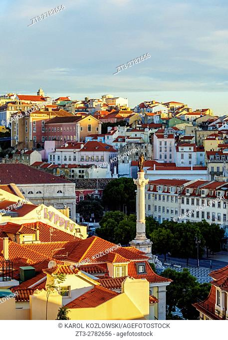 Portugal, Lisbon, View towards the Pedro IV Square