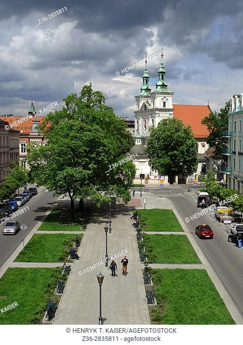 Basilica of Saint Florian on Matejko Square in Krakow, Poland
