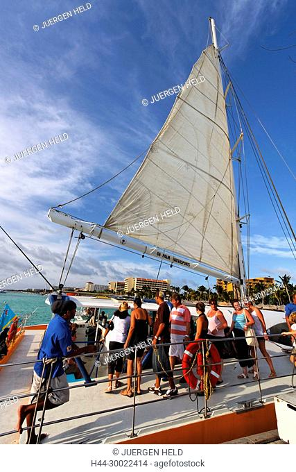 Aruba, Palm Beach, West Indies, Dutch Carribean, Central America , Palm Pleasure Catamaran