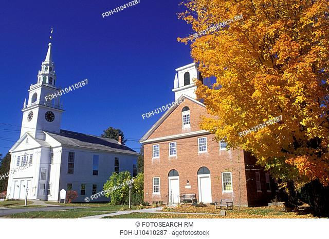 Hancock, NH, New Hampshire, First Congregational Church and Meeting House in the town of Hancock in the autumn