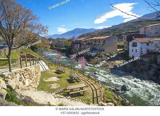 River Jerte. Cabezuela del valle, Caceres province, Extremadura, Spain