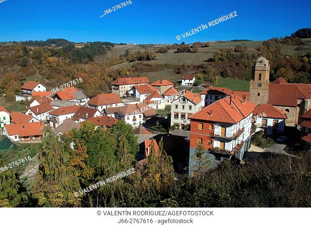 Jaurrieta, the highest town of Navarra, in the valley Salazar. Navarra