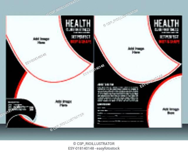 gym designer flyer template vector