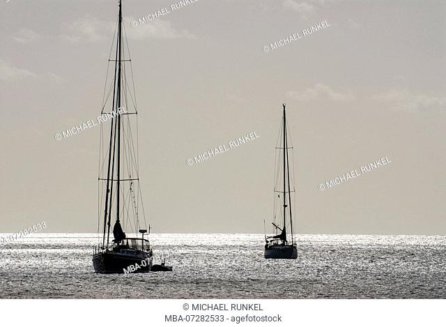 Sailing boats in Rodney Bay, St. Lucia