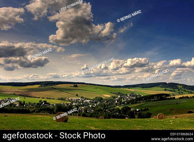 Neudorf eine Stadt nahe des Fichtelberg
