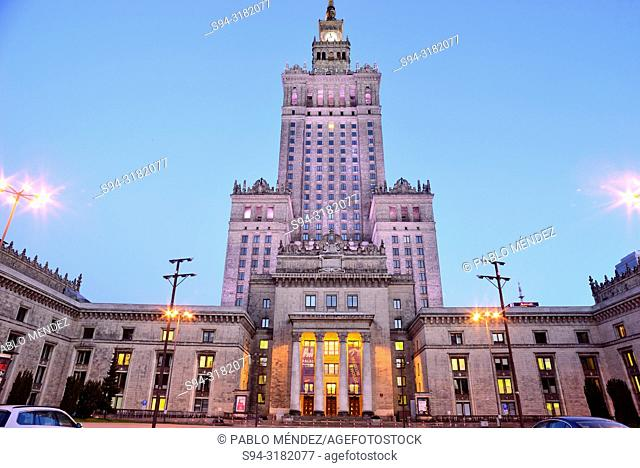 Culture and Science Palace of Warsaw, Poland