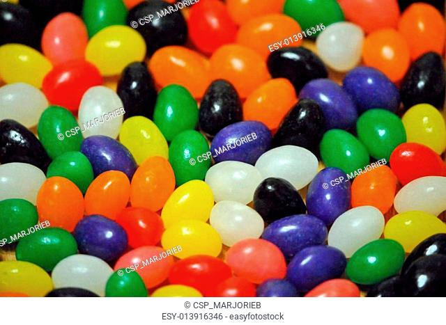 Jelly beans; closeup, shallow DOF