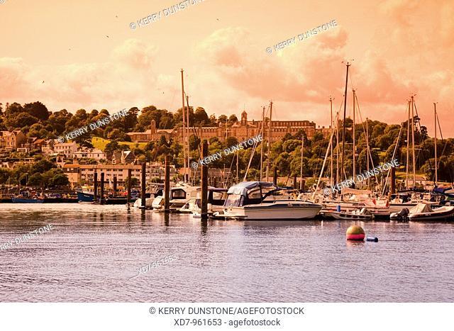 England Devon Dartmouth Naval College, town and River Dart