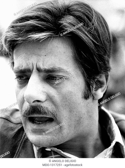 Portrait of Giancarlo Giannini. Portrait of the Italian actor and voice actor Giancarlo Giannini. Cannes, 1970s