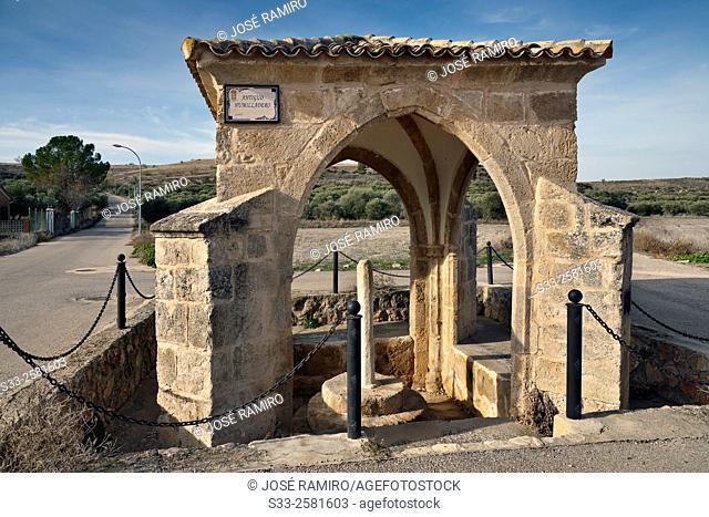 Humilladero in Almonacid de Zorita. Guadalajara. Castilla la Mancha. Spain. Europe