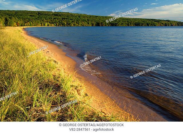 Beach on Lake Superior, Bayview Park, Bayview, Wisconsin