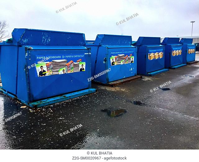 Large scale community recycling depot, St. John, New Brunswick, Canada. Many municipalities, in lieu of providing pickup at your home