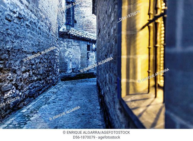 Street scene, Baeza, Jaen Province, Andalucia, Spain