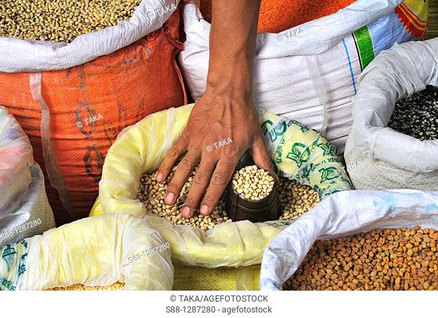The shop selling grains