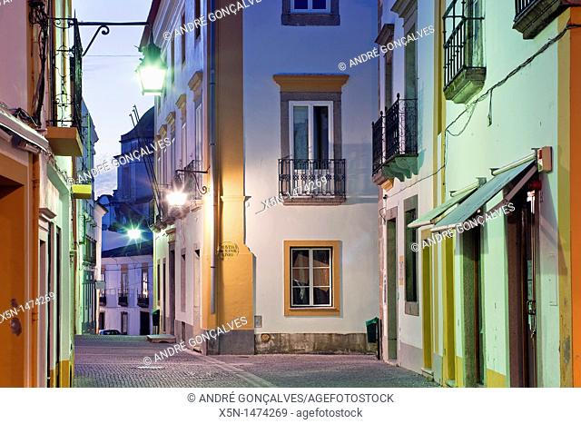 Streets of Evora, Alentejo Portugal, Europe