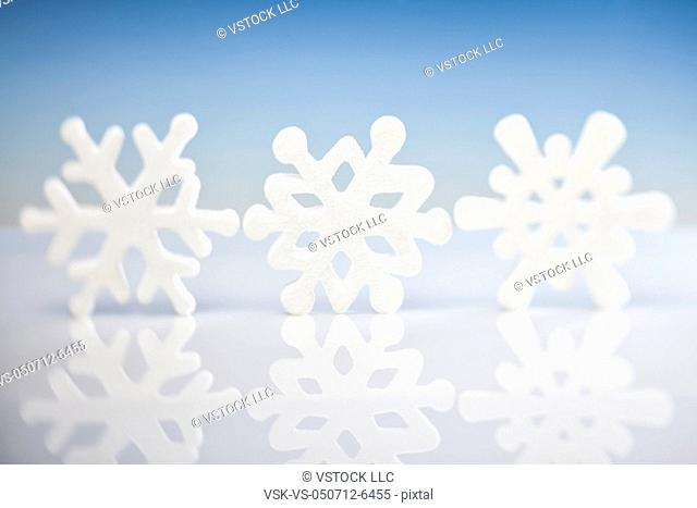 Studio shot of snowflakes