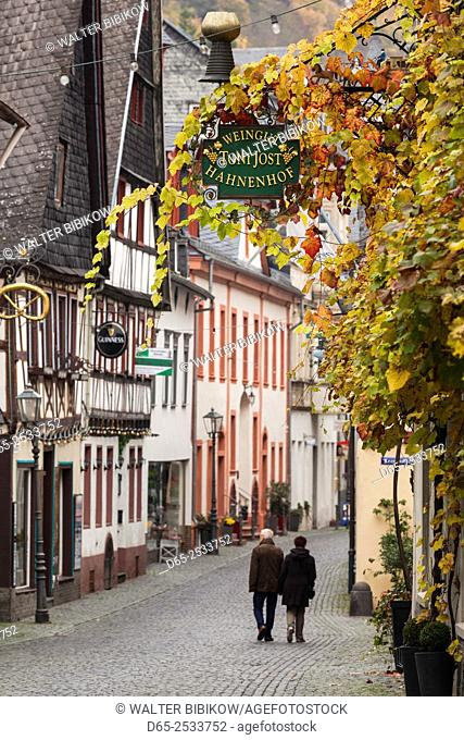 Germany, Rheinland-Pfalz, Bacharach, town building detail