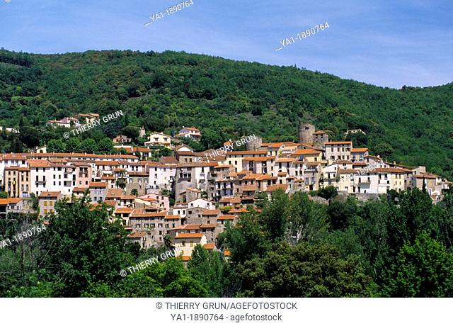 Old catalan village of Palalda, Amelie les bains, Eastern Pyrenees, Languedoc-Roussillon, France