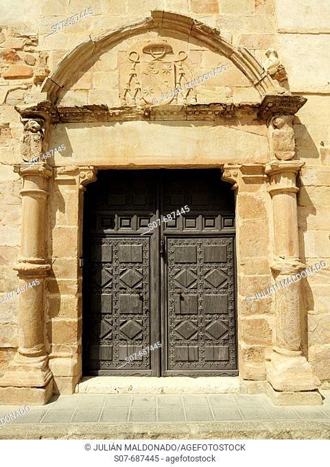 House of Capellán de las Bernardas main front, Almagro. Ciudad Real province, Castilla-La Mancha, Spain