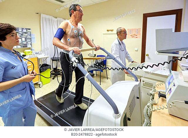 Cardiac stress test, Hospital Donostia, San Sebastian, Gipuzkoa, Basque Country, Spain