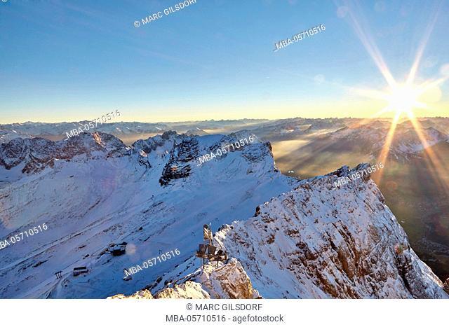 Mountain panorama Zugspitze