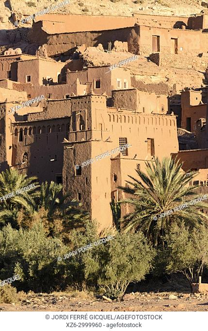 The Ksar of Ait-Ben-Haddou at sunrise, Aït Benhaddou, Morocco, Africa