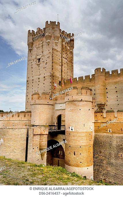 Castillo de La Mota, Medina del Campo, Castilla y Leon, Spain