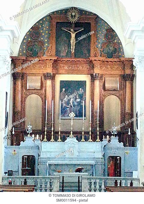 Italy, Salento, Gallipoli, Church of St. Francis of Assisi, Altar