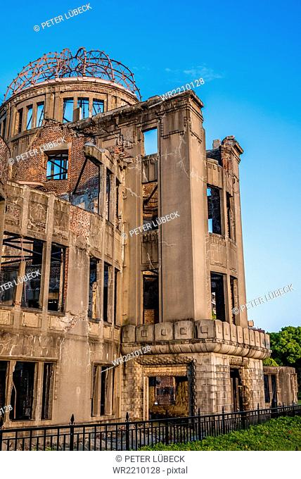 The Atomic Bomb dome in Hiroshima, Japan one of the few buildings left standing after the bomb hit