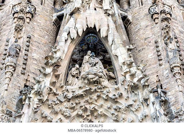 Spain, Barcelona, Sagrada Familia cathedral