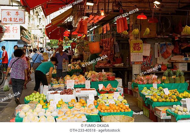 People shopping, Yuen Long, New Territories, Hong Kong