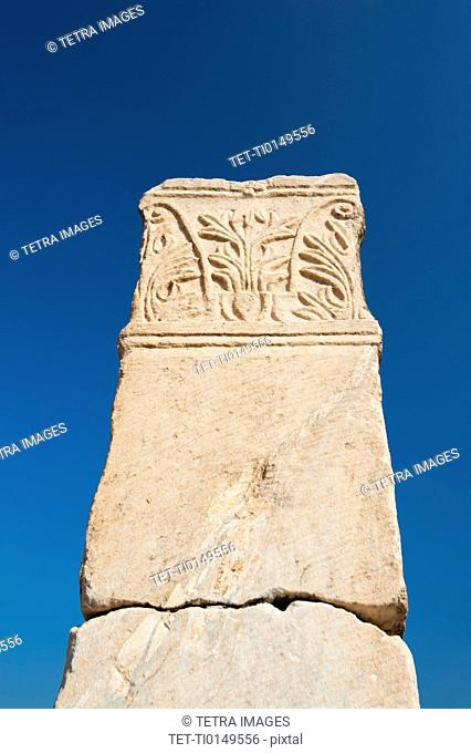 Turkey, Ephesus, Column