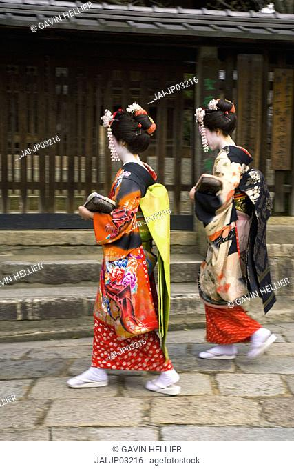 Maiko (apprentice Geisha), Gion district, Kyoto, Japan