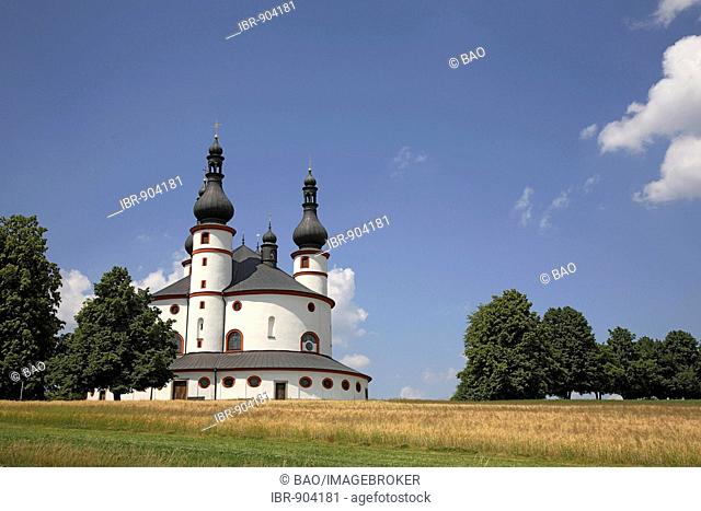 Dreifaltigkeitskirche Kappl, Church of the Holy Trinity, pilgrim church near Waldsassen, Upper Palatinate, Bavaria, Germany, Europe