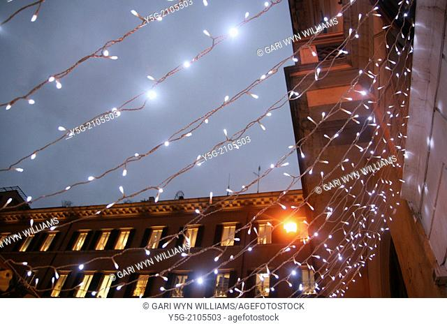 christmas lights in rome italy